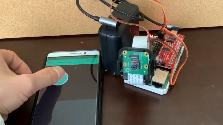 Raspberry Pi カメラのパン・チルトをサーボで遠隔制御する